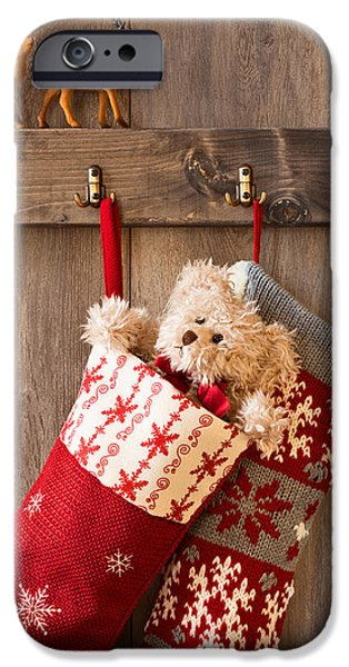 Christmas iPhone Cases - Xmas Stockings iPhone Case by Amanda And Christopher Elwell