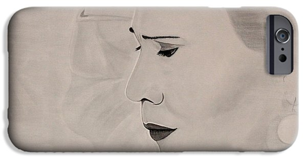 Roberto Paintings iPhone Cases - Xpression iPhone Case by Roberto De Souza