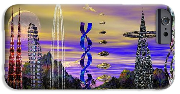 Moonscape iPhone Cases - Xthinsters On Lake Bindyblug iPhone Case by Mark Blauhoefer