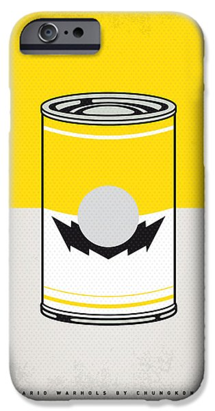 Warhol Art iPhone Cases - Y Mario Warhols Minimal Can Poster-wario iPhone Case by Chungkong Art