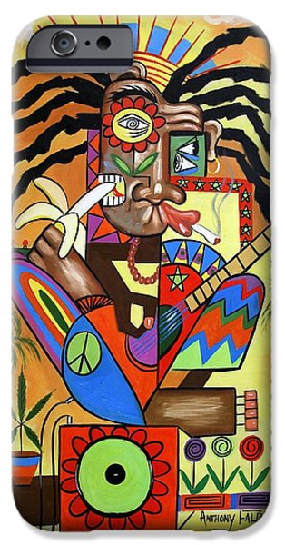 Jamaican Music iPhone Cases - Ya Mon 2 No Steal Drums iPhone Case by Anthony Falbo