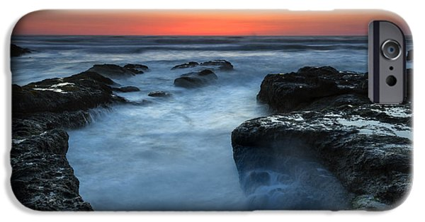 Ocean Sunset iPhone Cases - Yachats Sunset iPhone Case by Mike  Dawson