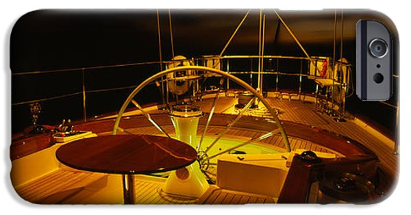 Weekend Activities iPhone Cases - Yacht Cockpit At Night, Caribbean iPhone Case by Panoramic Images
