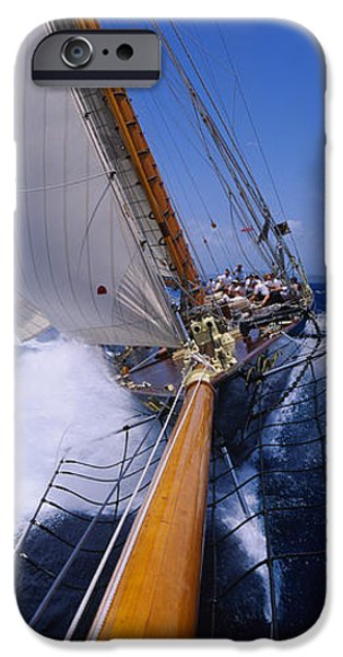 Sailboat Ocean iPhone Cases - Yacht Mast Caribbean iPhone Case by Panoramic Images