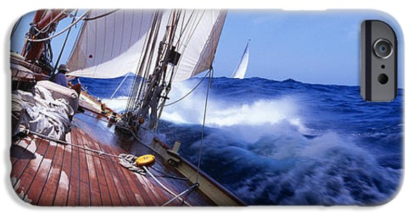 Sailboat iPhone Cases - Yacht Race iPhone Case by Panoramic Images