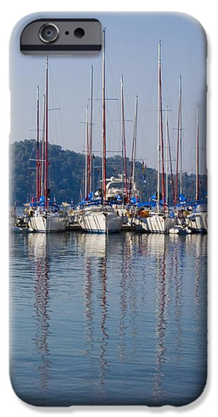 Yachts Docked In The Harbor Gocek iPhone Case by Christine Giles