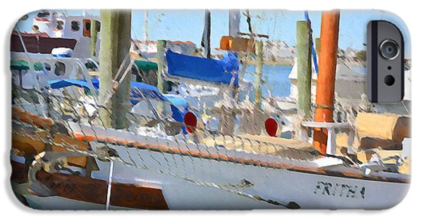 Sailboats iPhone Cases - Yachts in a port 12 iPhone Case by Lanjee Chee