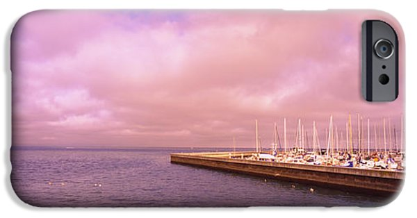 Before The Mast iPhone Cases - Yachts Moored At A Harbor, San iPhone Case by Panoramic Images