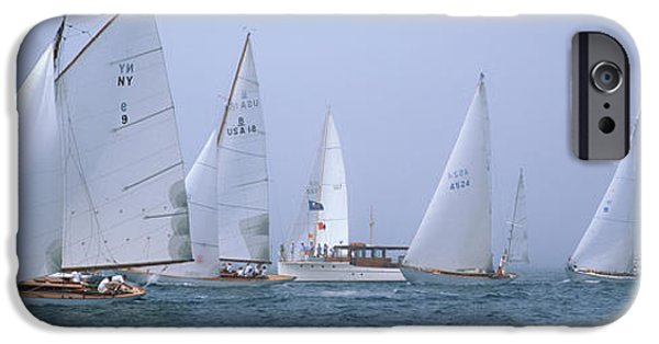 Annual iPhone Cases - Yachts Racing In The Ocean, Annual iPhone Case by Panoramic Images