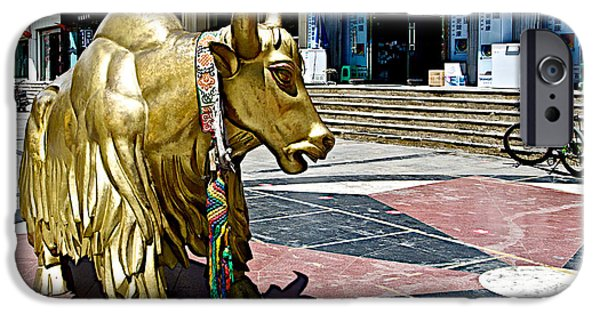 Yak Digital Art iPhone Cases - Yak Sculpture in Lhasa-Tibet     iPhone Case by Ruth Hager