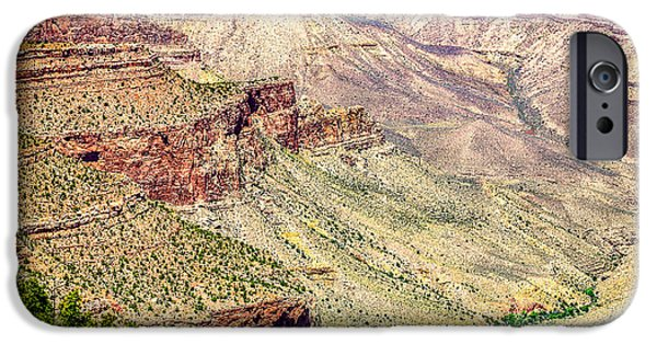Grand Canyon Mixed Media iPhone Cases - Yaki Point View of the Grand Canyon iPhone Case by  Bob and Nadine Johnston