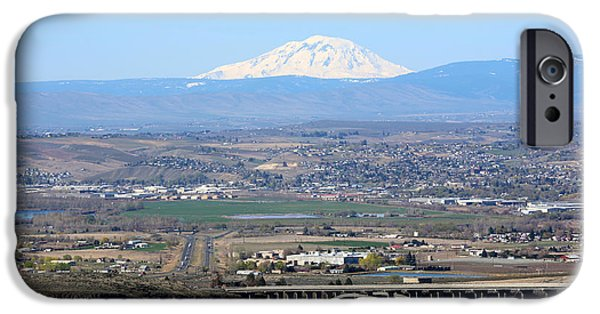 Yakima Valley iPhone Cases - Yakima Valley Outlook with Mount Adams iPhone Case by Carol Groenen