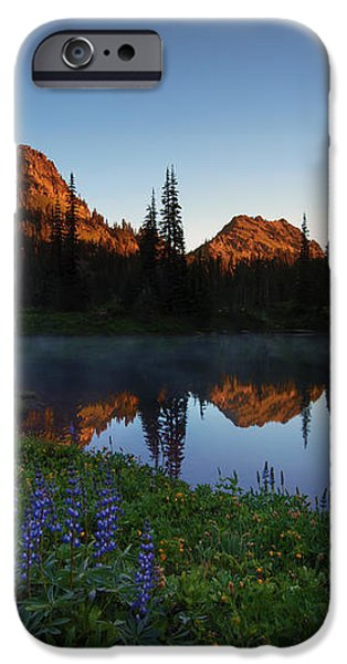 Yakima Peak Sunrise iPhone Case by Mike  Dawson