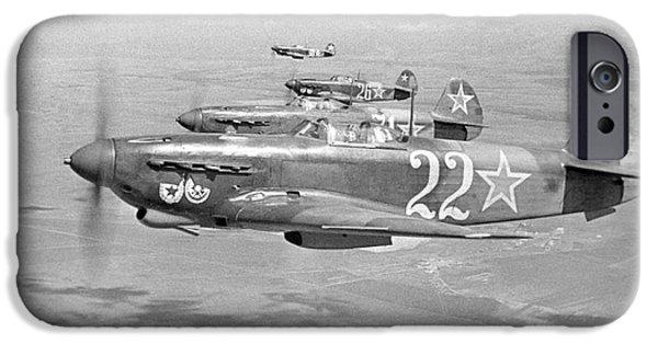 Yak iPhone Cases - Yakovlev Yak-9 Fighters, 1942 iPhone Case by Ria Novosti