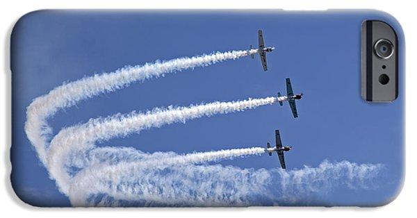 Yak iPhone Cases - Yaks aerobatics team iPhone Case by Jane Rix