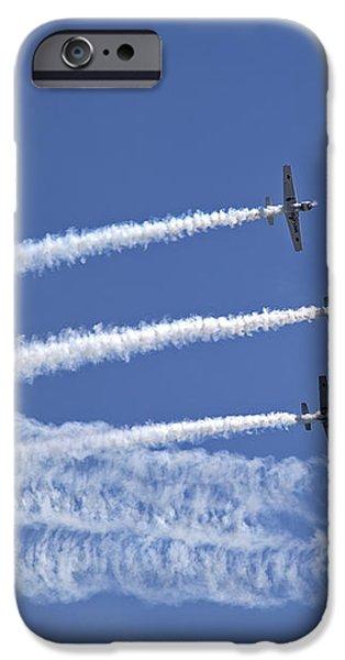 Yaks aerobatics team iPhone Case by Jane Rix