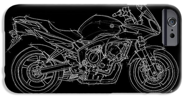 Transportation Pastels iPhone Cases - Yamaha FZ6b 2007 iPhone Case by Pablo Franchi