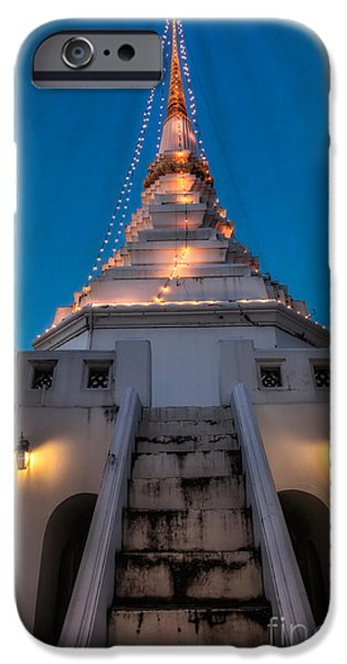 Bangkok iPhone Cases - Yan Nawa Temple iPhone Case by Adrian Evans