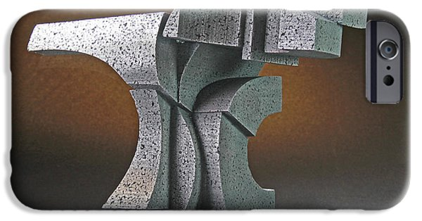 Stainless Steel Sculptures iPhone Cases - Yang iPhone Case by Richard Arfsten