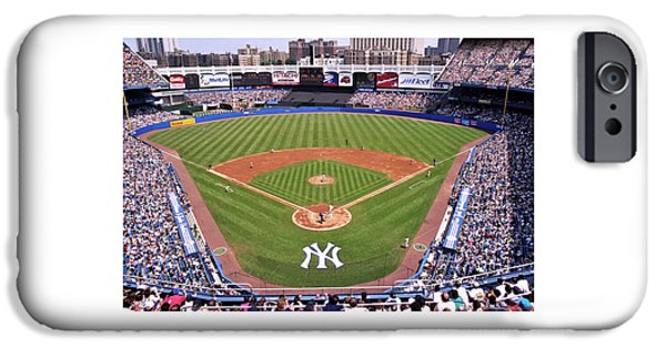 Pitcher iPhone Cases - Yankee Stadium iPhone Case by Allen Beatty