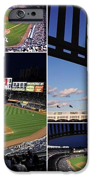 Yankee Stadium Collage iPhone Case by Allen Beatty