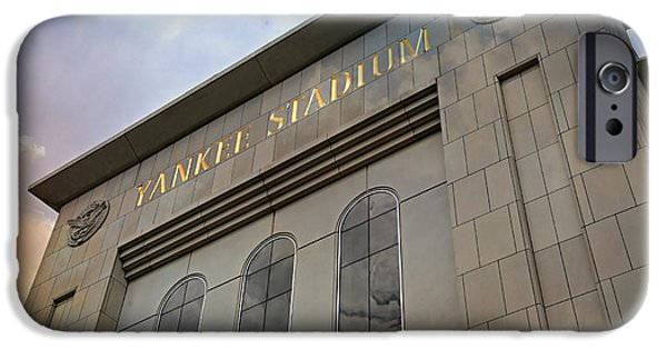 Pinstripes iPhone Cases - Yankee Stadium iPhone Case by Stephen Stookey
