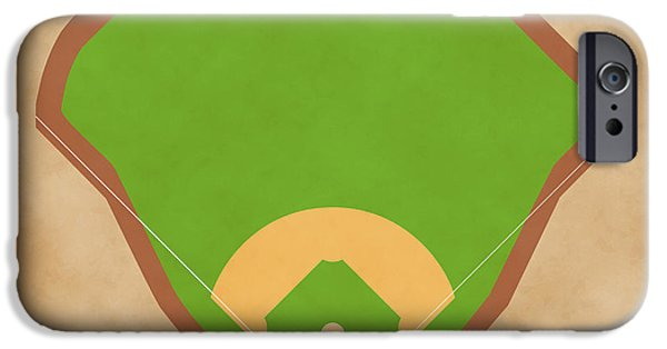Baseball Glove iPhone Cases - Yankees Field iPhone Case by Carl Scallop