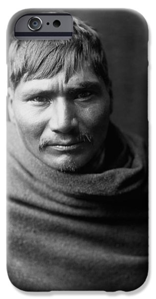 1907 iPhone Cases - Yaqui Man circa 1907 iPhone Case by Aged Pixel