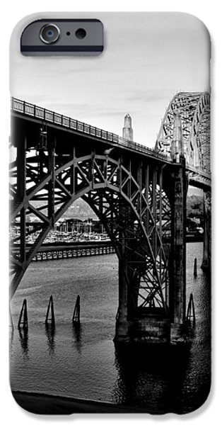 Yaquina Bay Bridge iPhone Case by Benjamin Yeager