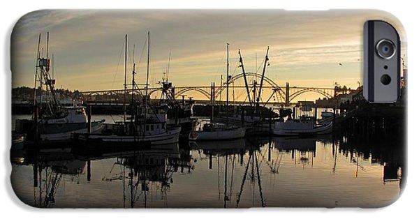 Bay Bridge iPhone Cases - Yaquina Bay Bridge iPhone Case by JM Photography    Jim Mullholand