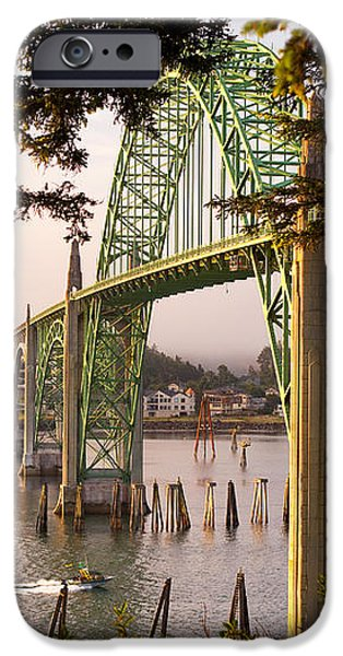 Yaquina Bay Bridge Morning Light iPhone Case by Darren  White