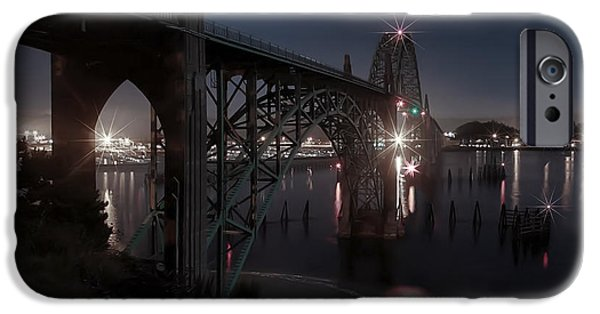 Bay Bridge iPhone Cases - Yaquina Bay Bridge - Newport Oregon iPhone Case by Daniel Hagerman