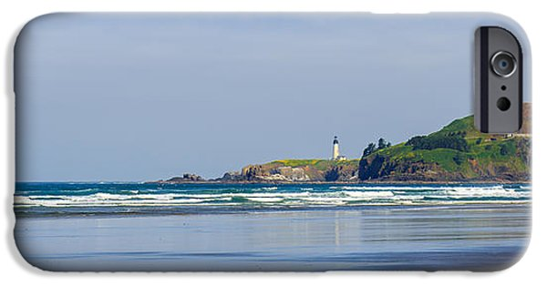 Agate Beach Oregon iPhone Cases - Yaquina Head Lighthouse 2 iPhone Case by C Steele
