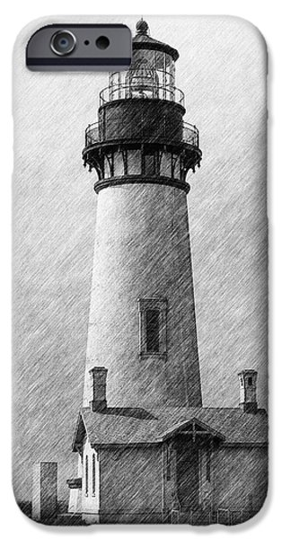 Ocean Tapestries - Textiles iPhone Cases - Yaquina Lighthouse iPhone Case by Dennis Bucklin