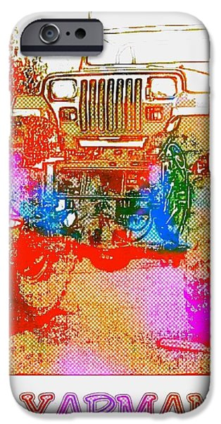 Etc. Mixed Media iPhone Cases - Yarman iPhone Case by James Eye