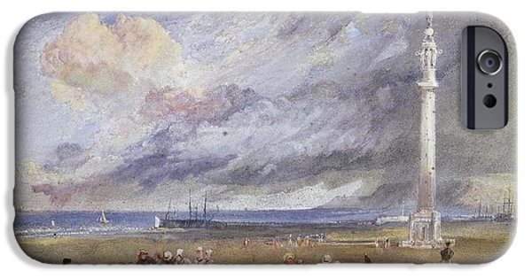 Harbor Drawings iPhone Cases - Yarmouth Sands iPhone Case by Joseph Mallord William Turner