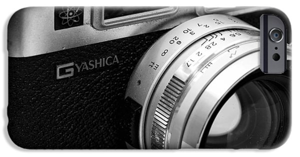 Rangefinder iPhone Cases - Yashica G iPhone Case by John Rizzuto