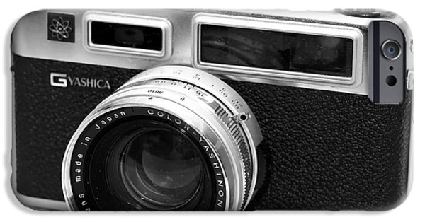 Rangefinder iPhone Cases - Yashica GS Rangefinder iPhone Case by John Rizzuto