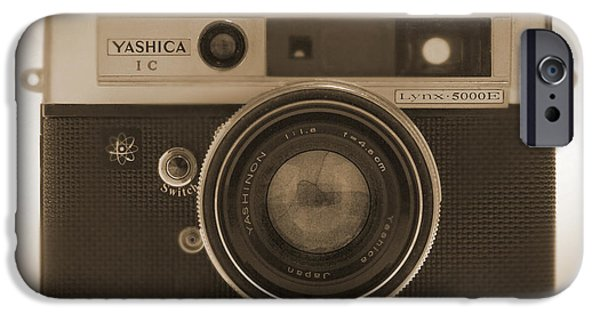 Rangefinder iPhone Cases - Yashica Lynx 5000E 35mm Camera iPhone Case by Mike McGlothlen