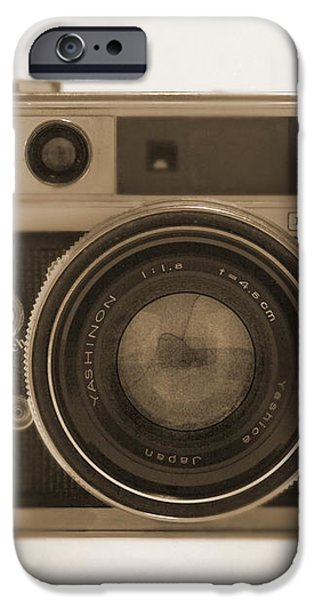 Yashica Lynx 5000E 35mm Camera iPhone Case by Mike McGlothlen