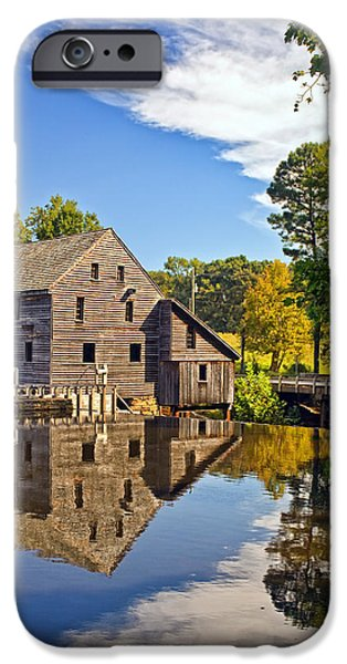 Grist Mill iPhone Cases - Yates Mill iPhone Case by Marcia Colelli