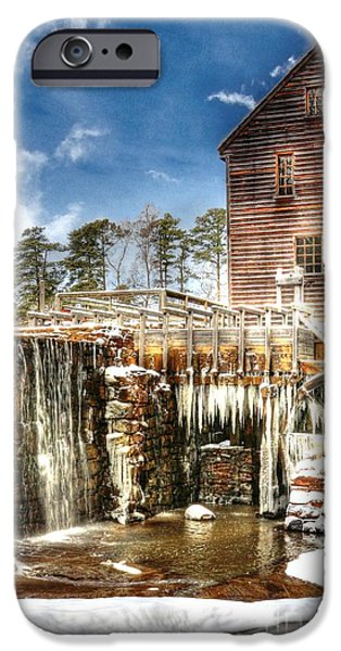 Grist Mill iPhone Cases - Yates Mill Pond iPhone Case by Benanne Stiens