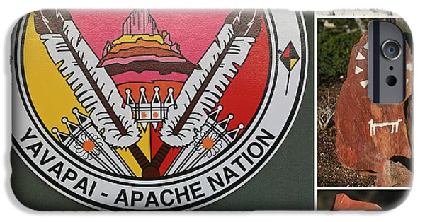 Nation iPhone Cases - Yavapai - Apache Collage iPhone Case by Donna Kennedy