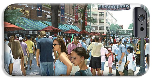 Fenway Park iPhone Cases - Yawkey Way iPhone Case by Linda Tenukas
