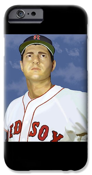 Boston Red Sox Digital Art iPhone Cases - Yaz iPhone Case by Melissa King