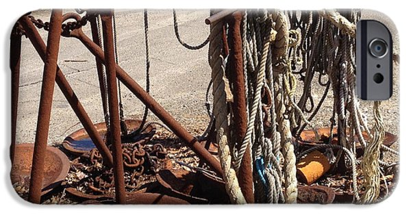 Rust iPhone Cases - Ye Old Boatyard iPhone Case by Beth Saffer