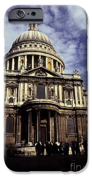 World Destination iPhone Cases - Ye Olde Church London iPhone Case by Ryan Fox