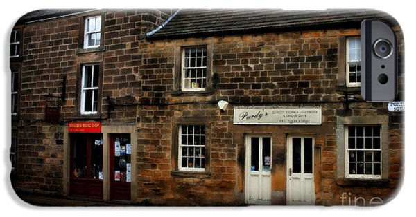 Electrical Paintings iPhone Cases - Ye Olde Country Shops - in Scotland iPhone Case by Michael Braham