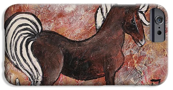 Year Of The Horse iPhone Cases - Year Of The Horse iPhone Case by Darice Machel McGuire