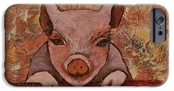 Signs Of The Zodiac Paintings iPhone Cases - Year Of The Pig iPhone Case by Darice Machel McGuire